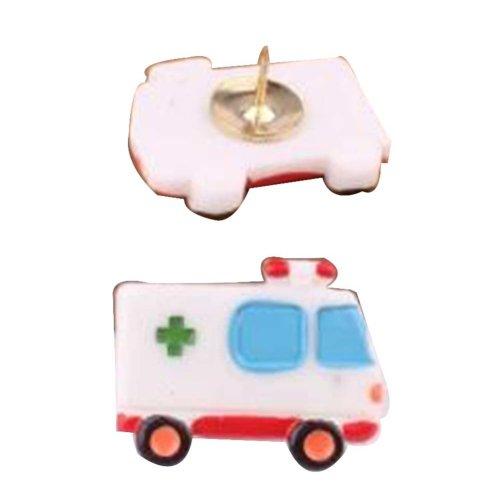 4 Pcs Creative Pushpin Push Pin Thumbtack Office Supplies, ambulance