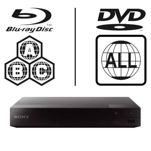 SONY BDP-S3700 Smart WiFi ICOS Multi Region All Zone Code Free Blu-ray Player. Blu-ray Zones A, B and C, DVD Regions 1 - 8. Full HD 1080p DLNA...
