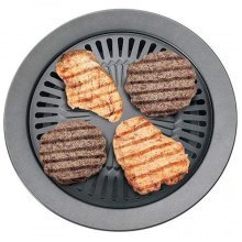 """Chefmaster 13 Smokeless Indoor Stovetop Barbecue BBQ Grill Kitchen Pan Griddle"""""""