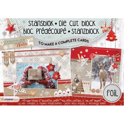 Studio Light Scandinavian Winter Die-Cut Card Toppers A5-Makes 6 Cards