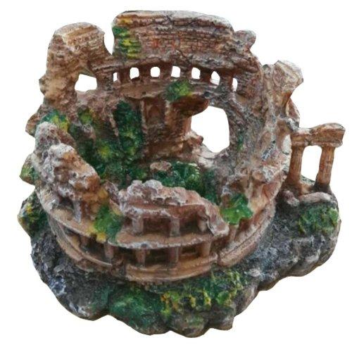 Roman Style Resin Aquarium Ornament, 22x18x13cm