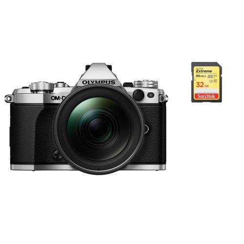 OLYMPUS E-M5 II Silver+12-40mm F2.8 PRO Black + SanDisk Extreme 32G SD