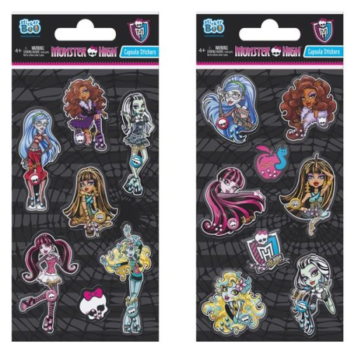 1 x Quality Sticker Sheets | MONSTER HIGH CAPSULE | Party Bags & Decoration