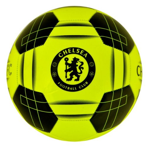 Chelsea Fc Fluo Football - Yellow, Size 5 - Official Yellow Soccer Club 26 -  football size 5 chelsea fluo fc official yellow soccer club 26 panel
