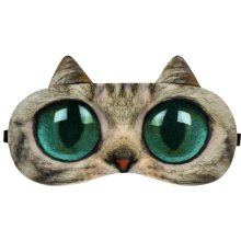 Big Eyes Cat Expression Sleep Mask Sleep Goggles Eye Cover