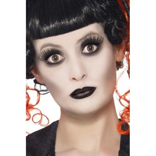 Smiffy's Gothic Make-up Set With Facepaint Lipstick - Make Up Halloween Fancy -  gothic make up halloween fancy dress costume paint kit set face fx