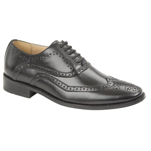 Goor Boys Brogue Shoe Black 1 UK