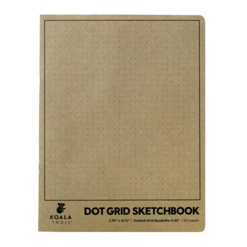 Koala Tools 1594896 7.75 x 9.75 in. Dot Grid Quadrille Sketchbook, 60 Sheets - Pack of 24