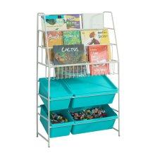 SoBuy® KMB07-B, Children Kids Bookcase Storage Display Shelving Storage Boxes