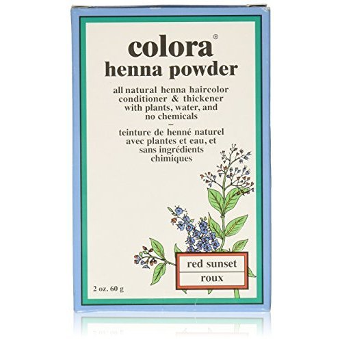 Colora Henna Powder Hair Color Red Sunset 2oz
