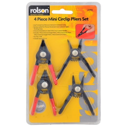 Rolson Four Head Circlip Pliers Set