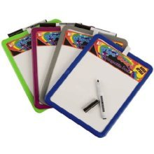 Magnetic Wipe Drawing Board -  magnetic dry wipe white board black marker pen kitchen home office note memo pad