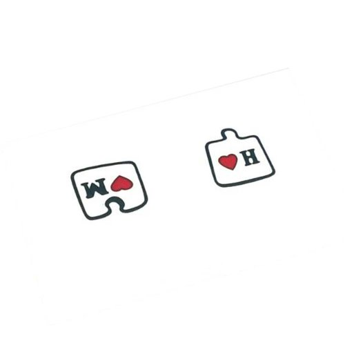 3Pcs Couples Tattoo Stickers Color Love Puzzle Tattoo Stickers