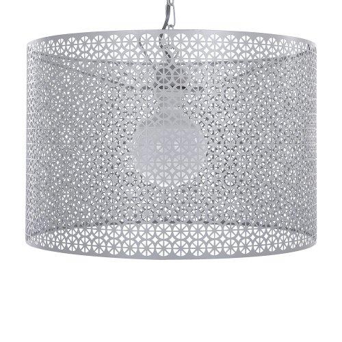 Metal Pendant Lamp Grey MEZEN