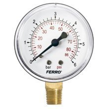 "60mm Pressure Gauge Air Oil or Water 1/4"" Bspt Side Entry Manometer"