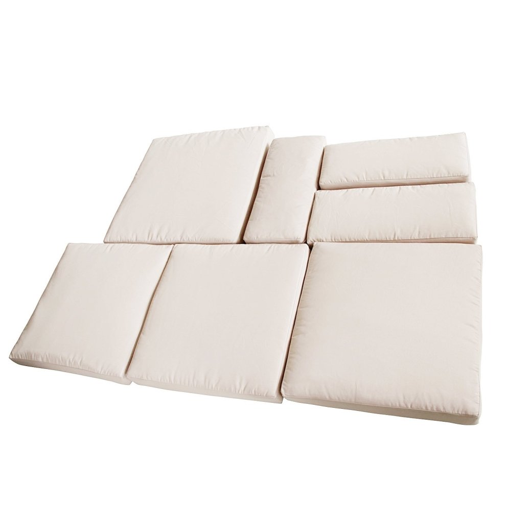 7pc Outsunny Garden Furniture Replacement Cushion Cover ...