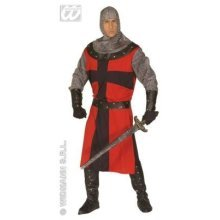 Dark Age Knight Men's Up To 44 Inch Chest Large -  knight costume dark outfit crusader fancy dress age quality mens medieval ages 7 pce historical