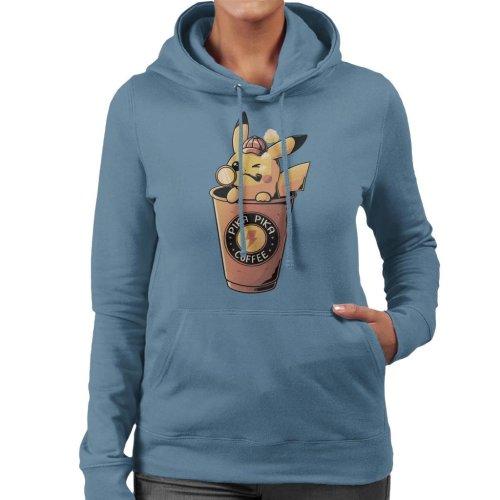 Pika Pika Coffee Pikachu Women's Hooded Sweatshirt