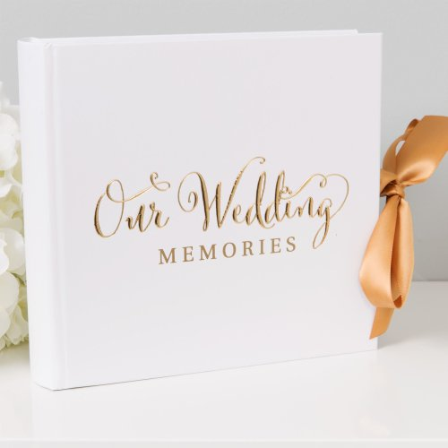 "Always & Forever' Gold Foil ""Our Wedding"" Album 4"" x 6"""