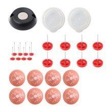 10 Pcs Removable Pink Print Buckle Caps/Unlocker/Fixer Pins Set For Sofa Bedding