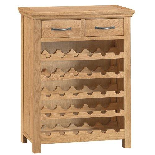 Stirling Oak Wine Cabinet