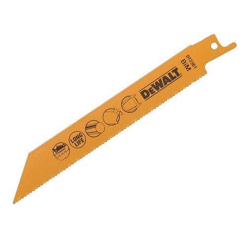 DeWalt DT2361-QZ Bi Metal Sabre Blade Fast Cut in Metal and Sheet Metal 152mm Pack of 5