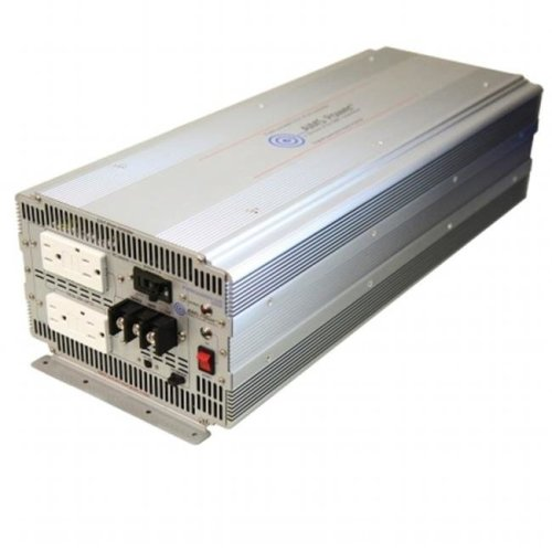 AIMS Power PWRIG500012120S 5000 Watt Pure Sine Power Inverter with GFCI outlets