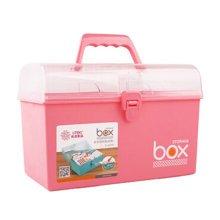 Home/Traveling Medicine Box Portable Rectangle Medicine Cabinet Storage Box Pink