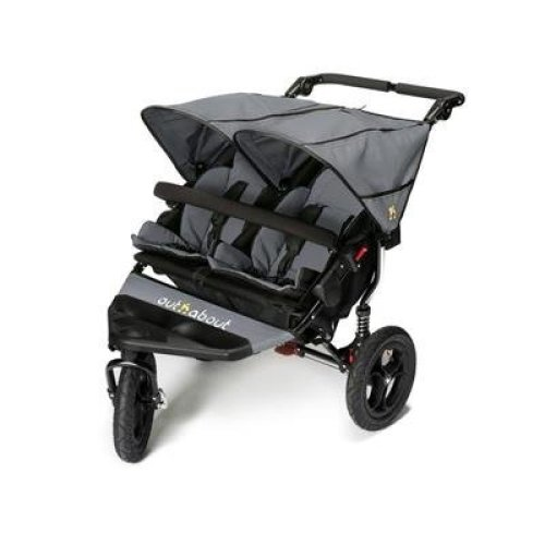Out n About Nipper Double v4 Stroller Steel Grey