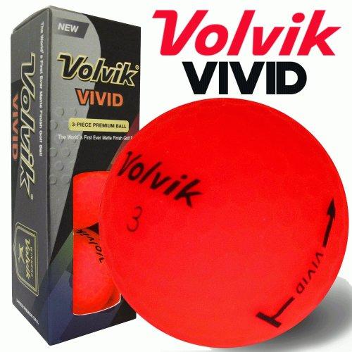 Volvik Vivid Golf Balls Red Sleeve of 3 Balls