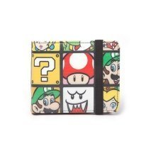 Super Mario Bros Characters Tiled Bifold Wallet Multi Colour (MW150205NTN)