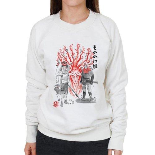 Wolf Princess Mononoke Women's Sweatshirt