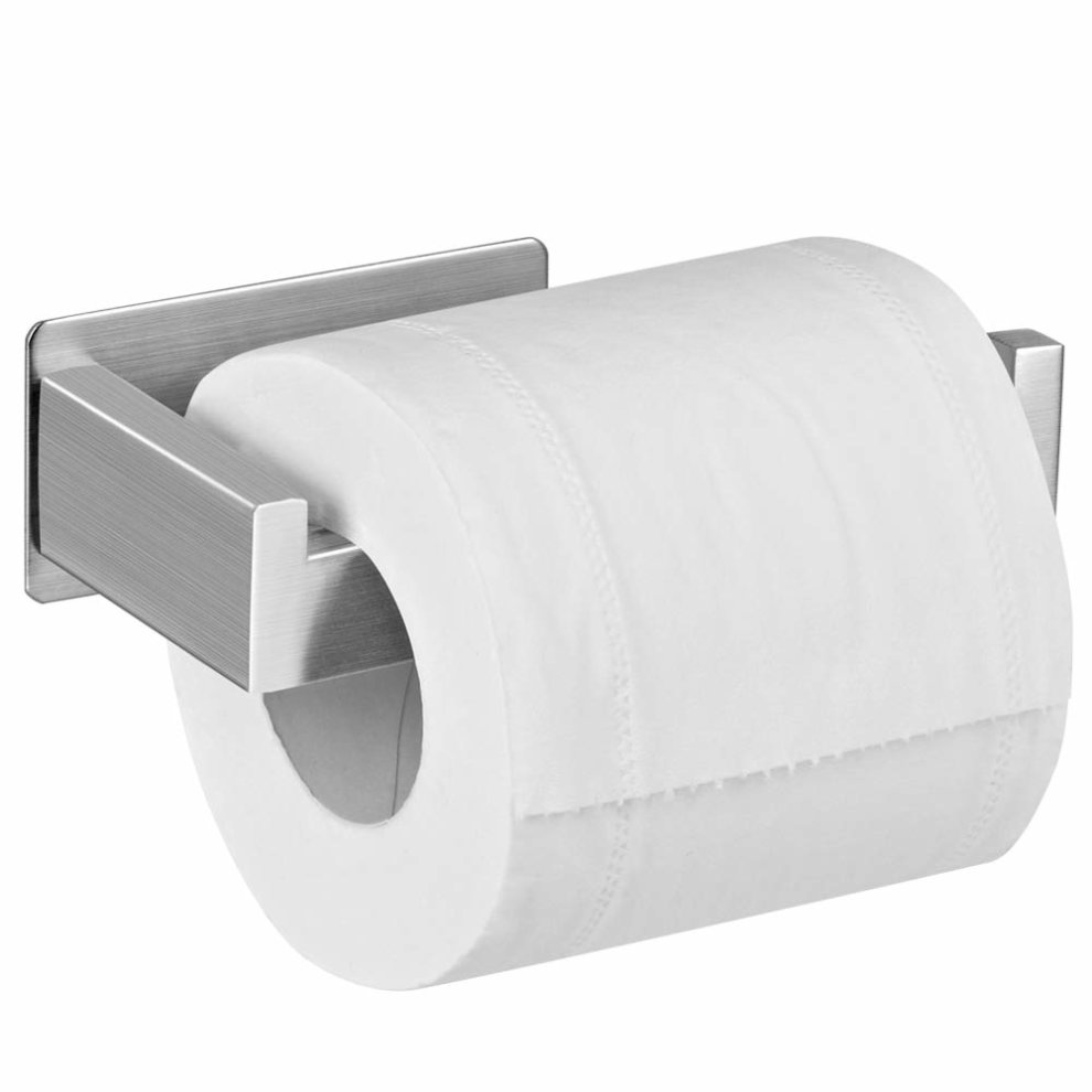 fd8183499de265 Toilet Paper Holder, Stainless Steel Wall Moun Self Adhesive Toilet Roll  Holder Towel Hanger for Bathroom Kitchen on OnBuy