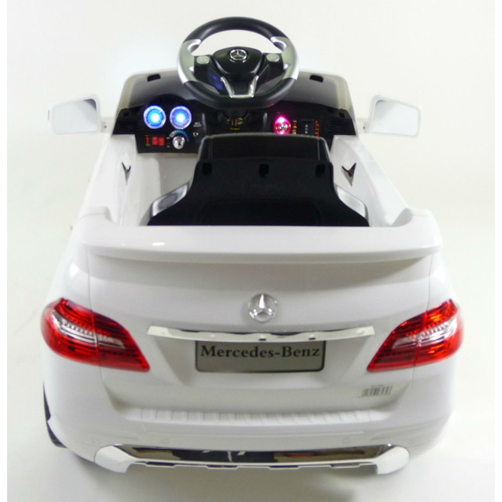 Licensed Mercedes Ml350 6v Electric Ride On Kids Car With Remote White 1
