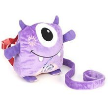 Nuby 2 In 1 Harness Backpack, Monster, Purple, Child Leash, Baby Walking Safety Harness, Kid Backpack With Tether, Toddler Travel, Wrist Leash