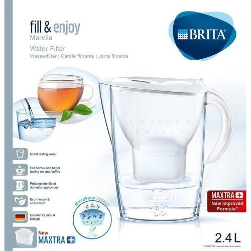 BRITA Marella Cool MAXTRA+ Plus 2.4L Water Filter Fridge Jug + Cartridge - White
