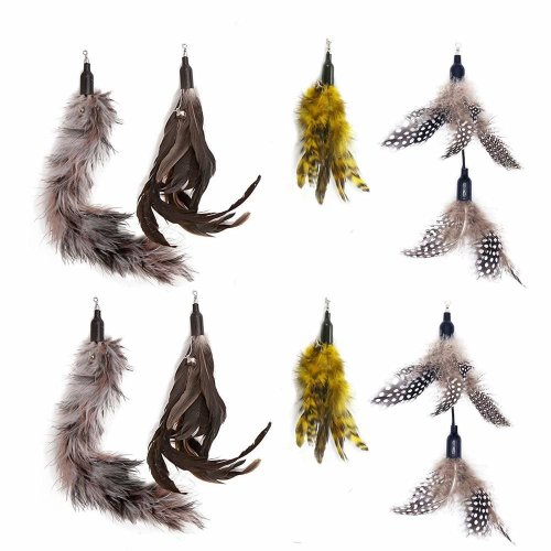 [AIDIYA] Cat Toy Interactive Toy Feather with 8 x Feather Refills