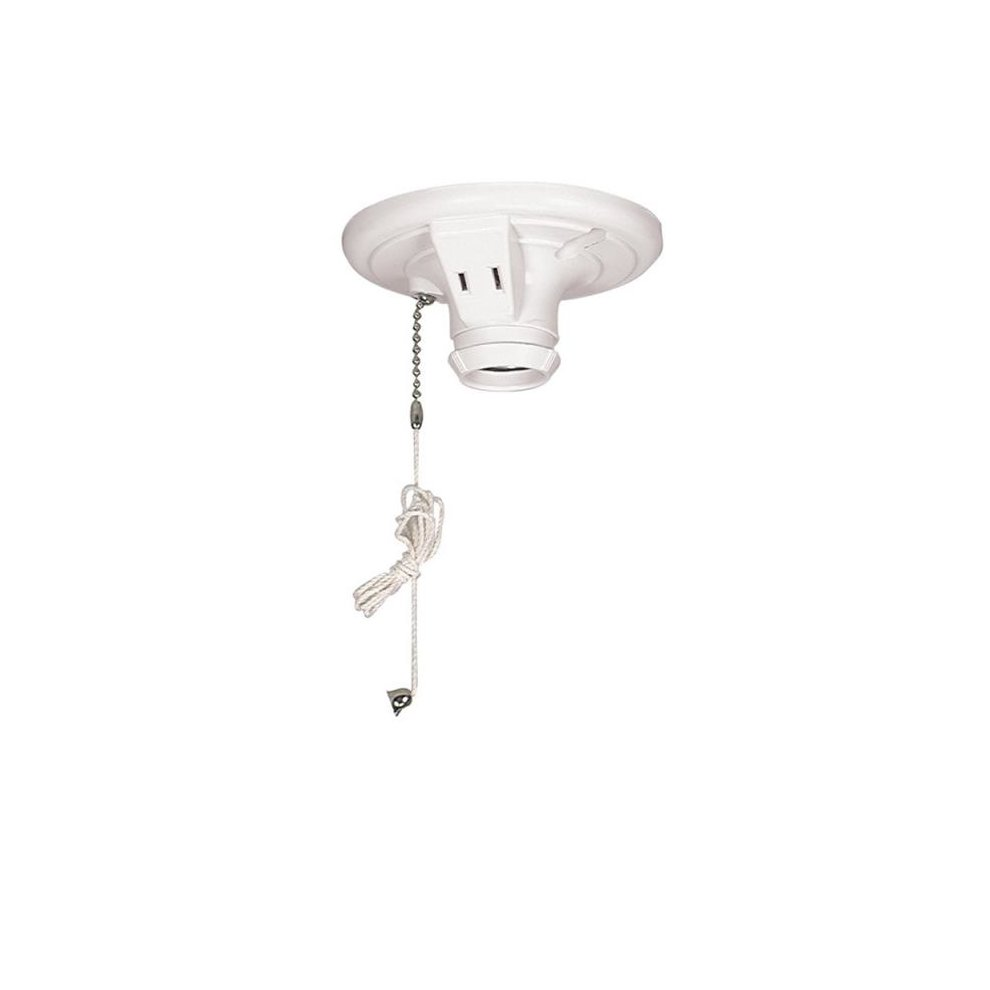 Cooper Wiring S860W-SP 250V Lampholder Pull Chain White - 3 25 x 4 in