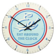 30cm World Of Flavours Stateside Metal Wall Clock -  world flavours stateside metal clock