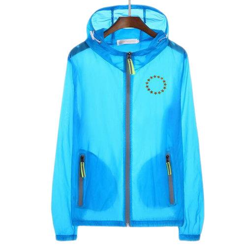 Waterproof Luminous Sun Protective Feather Clothing Cycling Climbing Long Sleeve Shirts-Blue