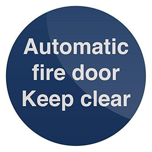 Fixman Automatic Fire Door Sign 100 x 100mm Self-adhesive - Automatic Fire Door -  automatic fire door x 100mm selfadhesive sign fixman 836711
