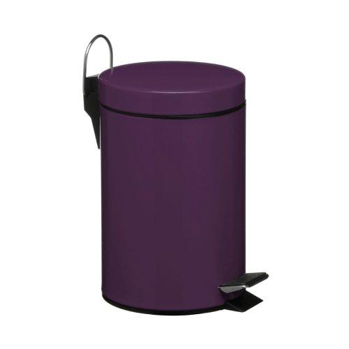 3 Litre Pedal Bin, Purple