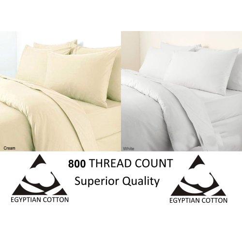 Egyptian Cotton 800 Thread Duvet Quilt Cover Bedding Set