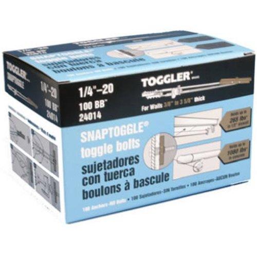 Mechanical Plastics 24014 0.25-20 in. Toggler Snaptoggle BB Toggle Bolt - 100 Pack