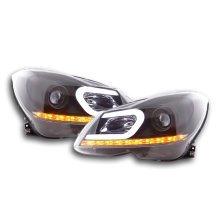 Daylight headlight Mercedes C-class W204 Year 11-14 black