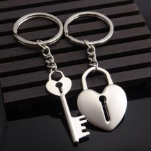 e4b6a803d2 Vintage Key To Love Heart Lock Couples Keyrings Lovers Puzzle Keyring  Silver Metal Key Chains