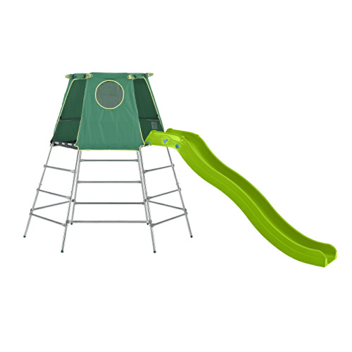 TP Toys Explorer Metal Climbing Frame Set With Slide Extendable Frame From Low-High Height Ages 18 Months-12 Years