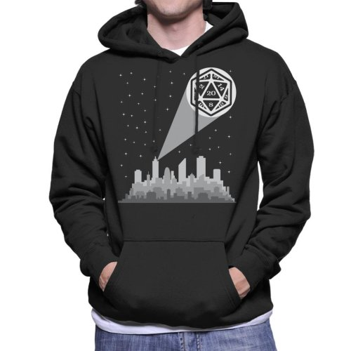 Dungeons And Dragons Night Sky Sihouette Men's Hooded Sweatshirt