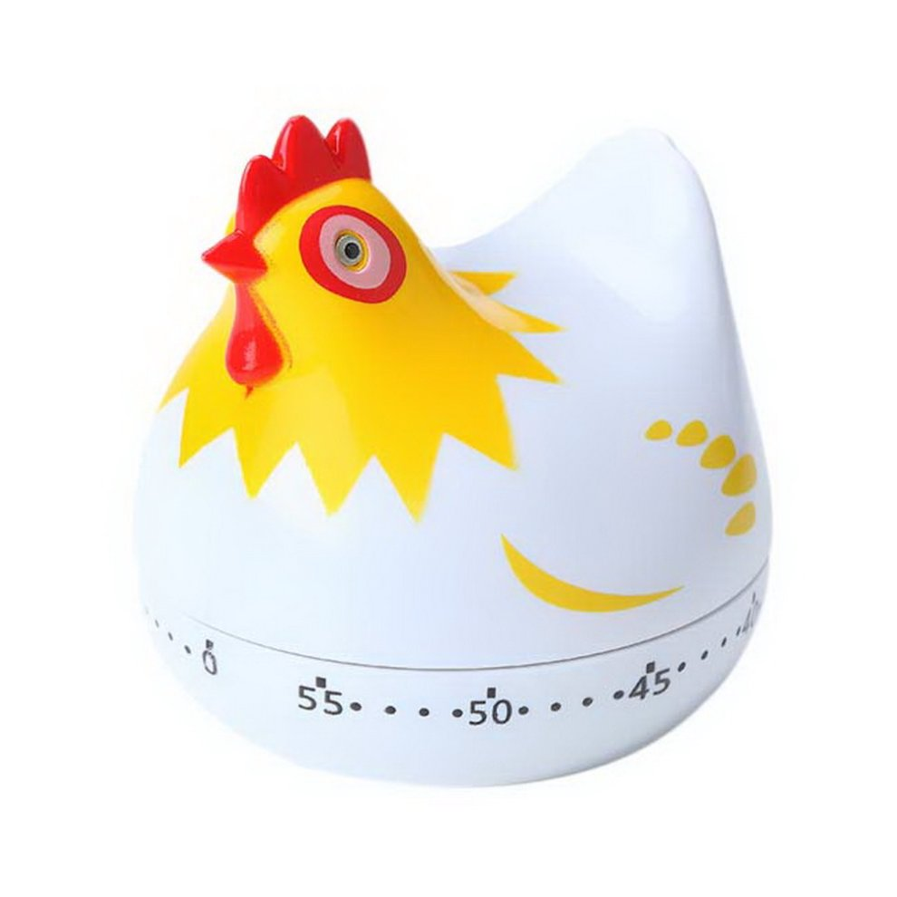 Student Timer Small Alarm Clock, 60 Minute Cute White Chick Shaped Kitchen  Timer