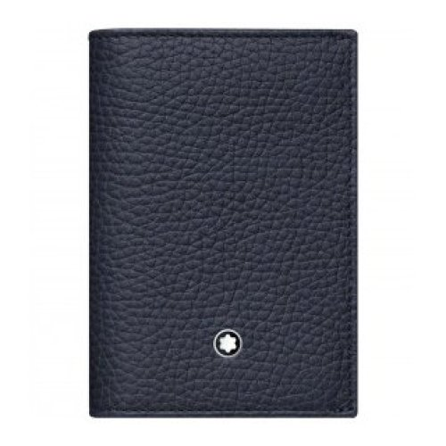 MONTBLANC BUSINESS CARDS HOLDER WITH GUSSET MEISTERSTUCK SOFT GRAIN NAVY BLUE 116744